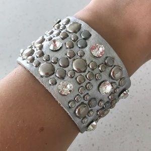 Blingy leather Bracelet